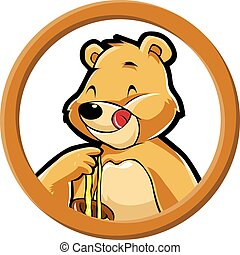 Honey bear circle banner