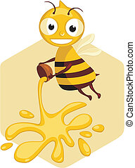 Honey Bee - Cartoon of a worker honey bee