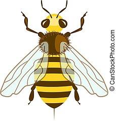 Honey Bee in flat design.