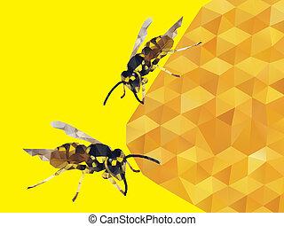 Honey Bee of Vector