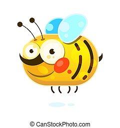 Honey Bee on white background vector illustration