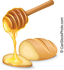 Honey Bread vector