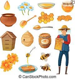 Honey Cartoon Set