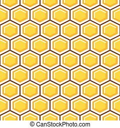 Honey comb pattern cells vector background.