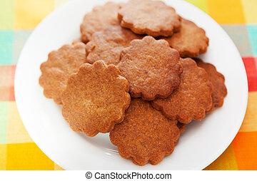 Honey cookies with cinnamon