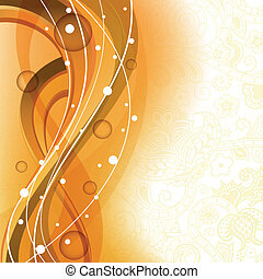 Honey Curve Abstract