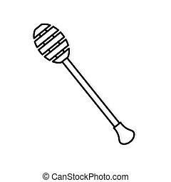 honey dripper icon - vector illustration