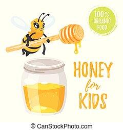 honey for kids illustration