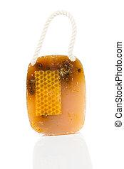 honey handmade soap, Isolated on white background