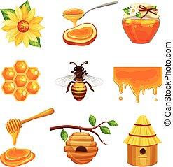Honey Isolated Icon Set
