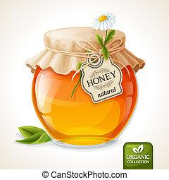 Honey jar glass