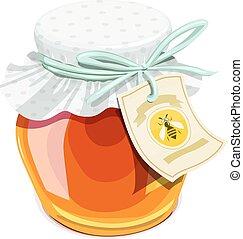 Honey jar. Vintage style