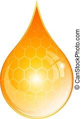 Honey oil drop vector illustration