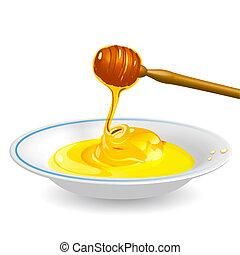 Honey on saucer