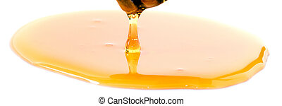 honey with dipper