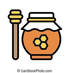 Honey pot icon, Thanksgiving related vector illustration