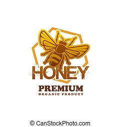 Honey product bee vector premium product icon