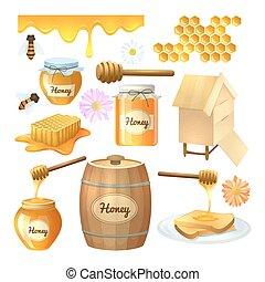 Honey set illustration