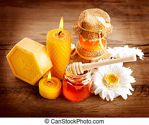 Honey Spa. Healthcare. Handmade Honey Soap. Natural...