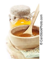 honey - Full honey pot and honey stick ver white