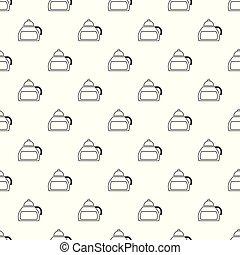 Honey tea pattern vector seamless