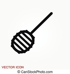 Honey vector icon, dairy and natural products