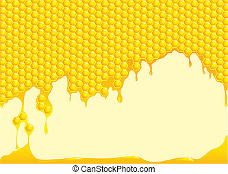 A vector illustration of a honeycomb background with space for text