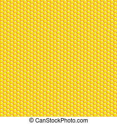 A vector illustration of a honeycomb background