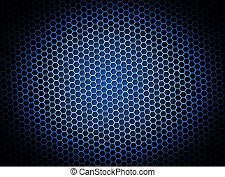 Honeycomb Background Blue