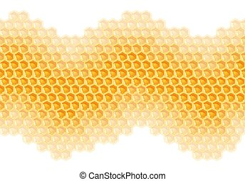 Honeycomb background - endless - yellow honeycomb background...