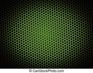 Honeycomb Background Green