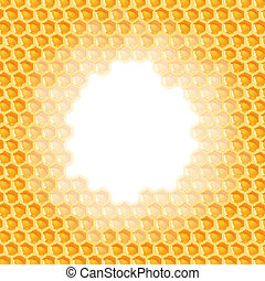 Honeycomb background - hole in the middle