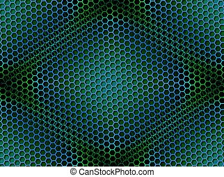 Honeycomb Background Seamless Blue Green