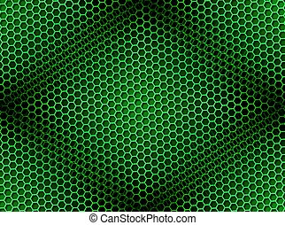 Honeycomb Background Seamless Green
