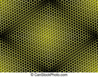 Honeycomb Background Seamless yellow