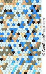 Honeycomb blue grid seamless background or Hexagonal cell