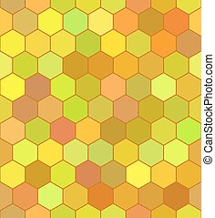 Honeycomb color pattern