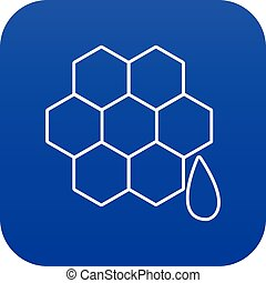 Honeycomb icon blue vector