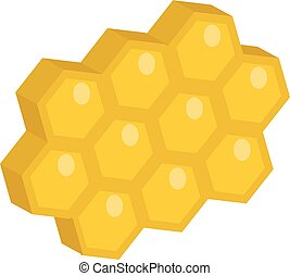 Honeycomb icon, flat style. Isolated on white background. Vector illustration, clip-art.