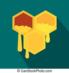 Honeycomb icon in flat style