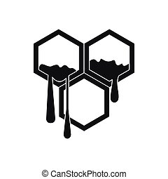 Honeycomb icon in simple style