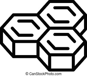 Honeycomb icon, outline style