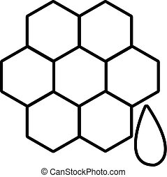 Honeycomb icon , outline style