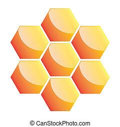 Honeycomb icon. Vector illustration