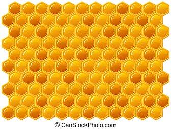 Honeycomb - ilustration of honeycomb texture background