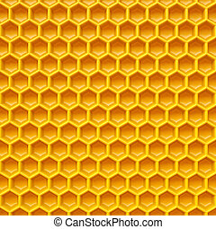 honeycomb made ??of yellow plastic. Isolated on white.