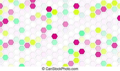 honeycomb mosaic loop background - honeycomb mosaic....