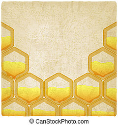honeycomb old background