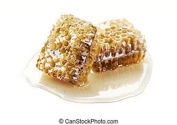 honeycomb on white background
