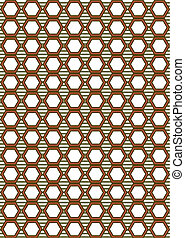 honeycomb pattern earthy colors suit material background